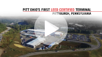 PITT OHIO's first constructed terminal with sustainability and green practices in place.